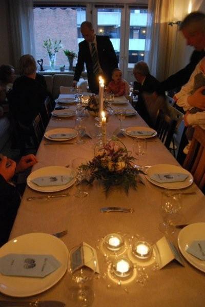Marita and Lars Einar's dinner party for Lars Kristian's christening