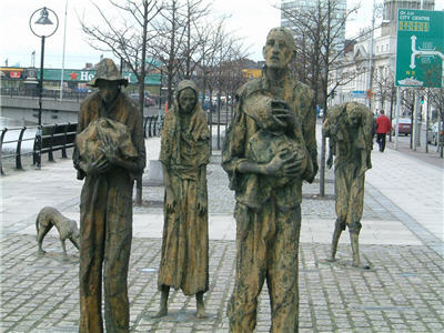Irish Famine Memorial in Dublin