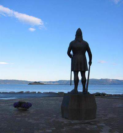 Leif Erikson statue in Trondheim, Norway